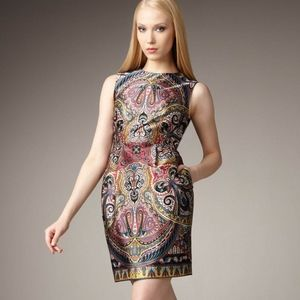 Nanette Lepore Gotham Stakes Silk Paisley Dress 6